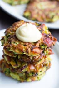 Bacon Zucchini Fritters {Paleo, Whole30}