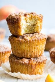 Paleo Peach Muffins with Crumb Top {Gluten-Free, Dairy-Free}