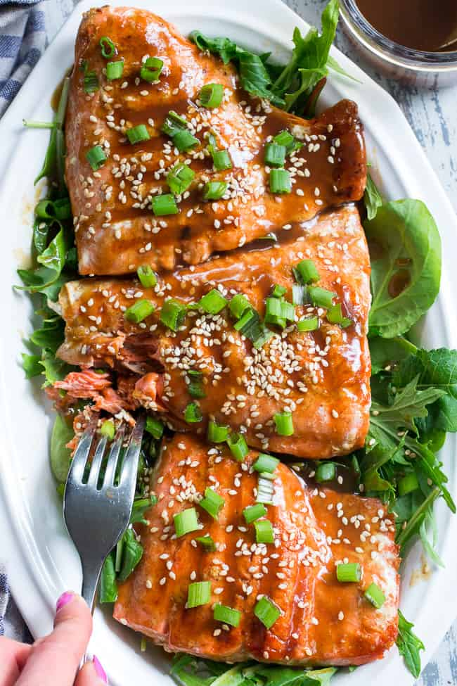 Grilled Teriyaki Salmon Paleo Whole30 The Paleo Running Momma