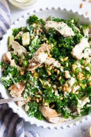 Kale Chicken Caesar Salad {Paleo, Whole30}