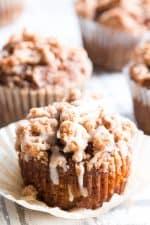 Paleo Pumpkin Muffins with Cinnamon Streusel {GF, DF}