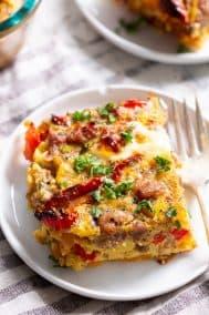 Italian Breakfast Casserole {Paleo, Whole30}