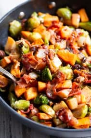 Harvest Hash with Bacon and Apple Vinaigrette {Paleo, Whole30}