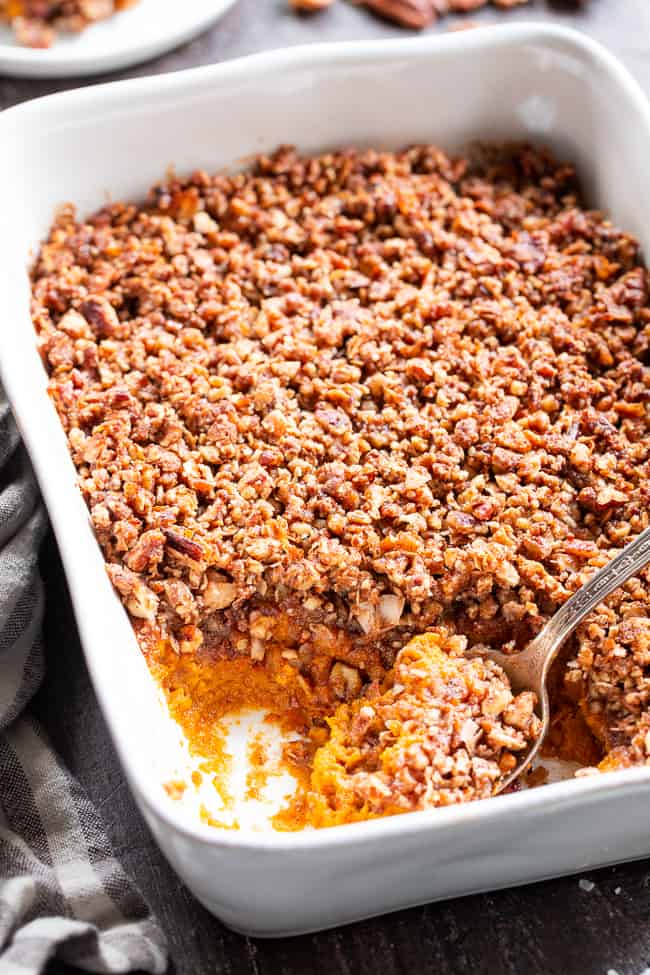 Paleo Sweet Potato Casserole Gf Df The Paleo Running Momma