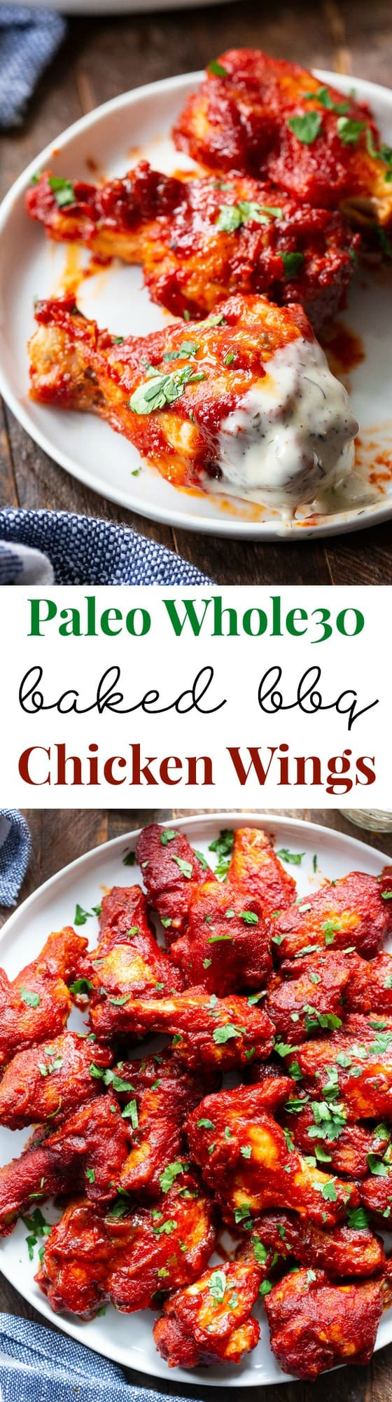 These sweet and smoky BBQ chicken wings are made Whole30 compliant with an easy homemade BBQ sauce. They're baked to crispy perfection and brushed with lots of sauce for a super tasty appetizer or main course that you'll be constantly craving!