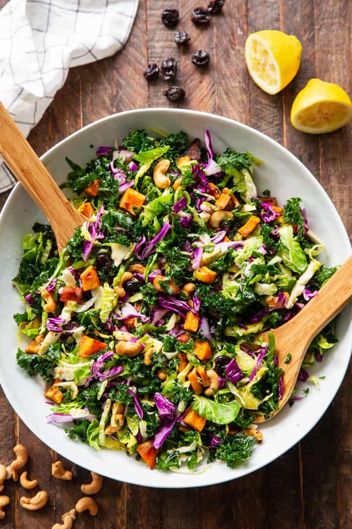 Rainbow Veggie Salad With Lemon Vinaigrette Paleo Whole30 Vegan