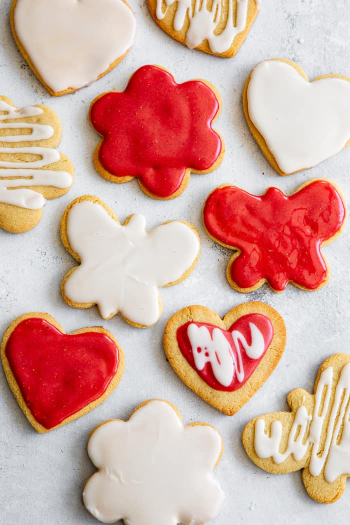 The best Paleo Sugar Cookies I've tried are finally here!  A sneak-peak from my book Paleo Baking at Home*,these cutout sugar cookies are crisp and slightly chewy with a buttery flavor and paleo friendly icing.