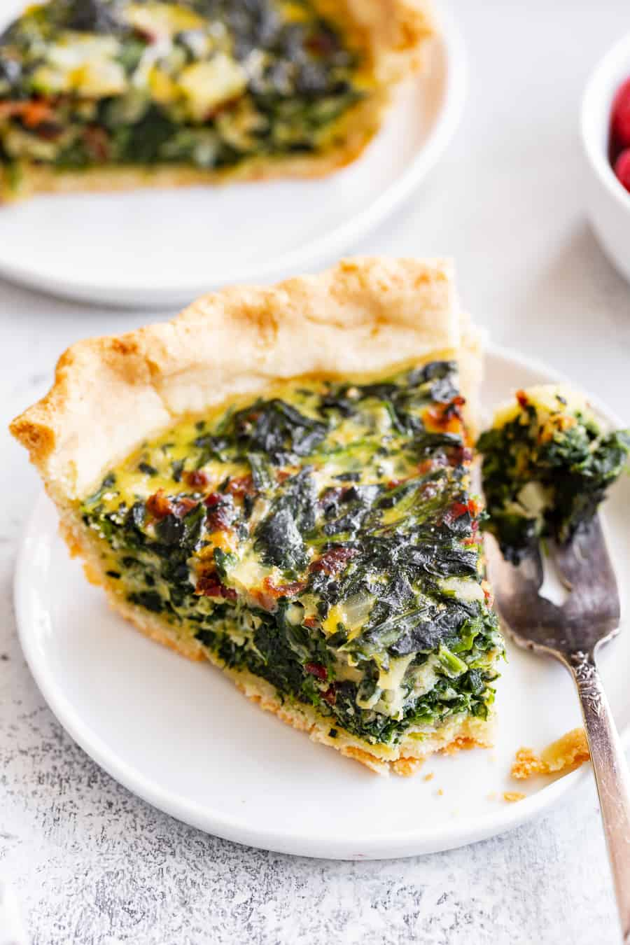 Spinach Quiche With Bacon Paleo Gluten Free Dairy Free